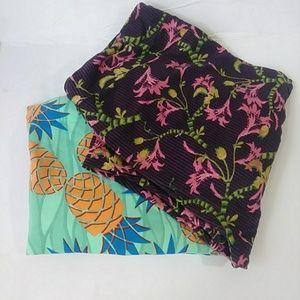 LuLaRoe Pants - LulaRoe Bundle Lot of 2 Tall & Curvey Leggings